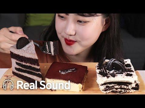 케이크 JMT 투썸플레이스 조각케이크 3종 (모어댄쿠키앤크림/티라미수/아이스박스) 리얼사운드 먹방 (Eng sub) Dessert Cake Realsound Mukbang