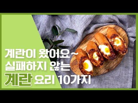 냉장고에 하나쯤 있는 달걀요리 레시피 10가지~! [만개의레시피]
