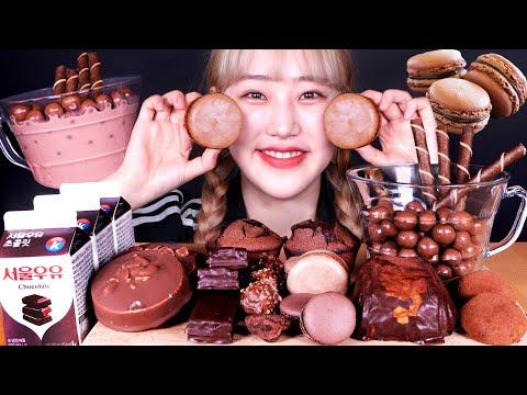 달달한 초코 디저트 2탄 (마카롱, 몰티져스, 초코아이스크림, 등) 먹방 Choco Dessert(Macaron, Cake, Maltesers, IceCream) Mukbang